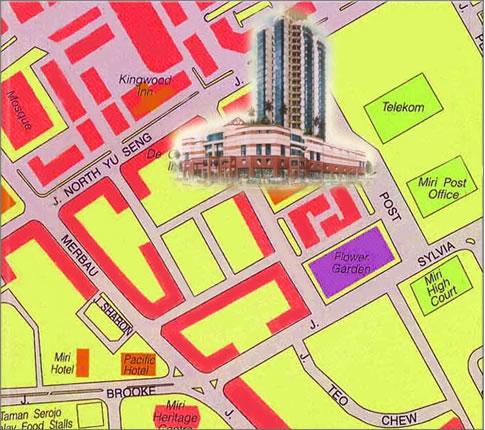 Imperial Hotel Miri Map