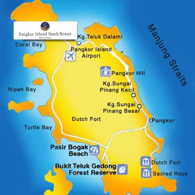 Location Map - Pangkor Island Beach Resort