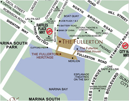 Fullerton Bay Hotel Singapore Location Map