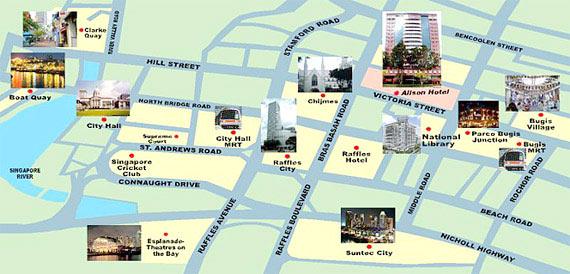 Location Map Grand Pacific Hotel