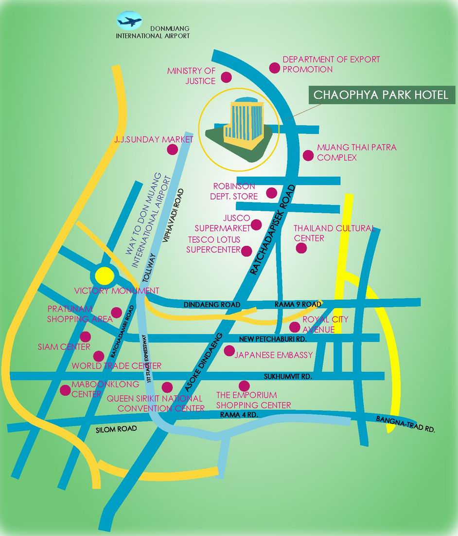 Chaophya Park Hotel Location Map