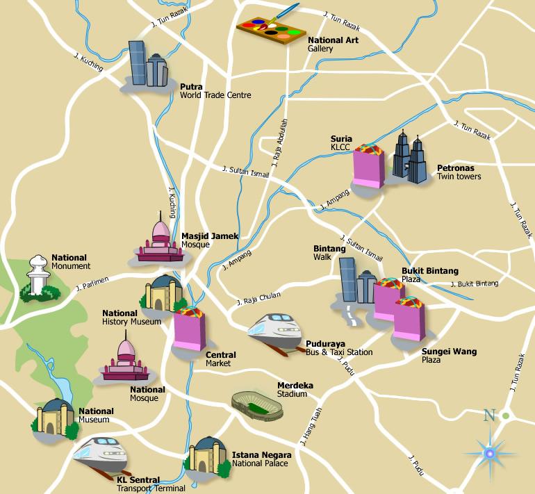 Lumpur Map - kuala lumpur map